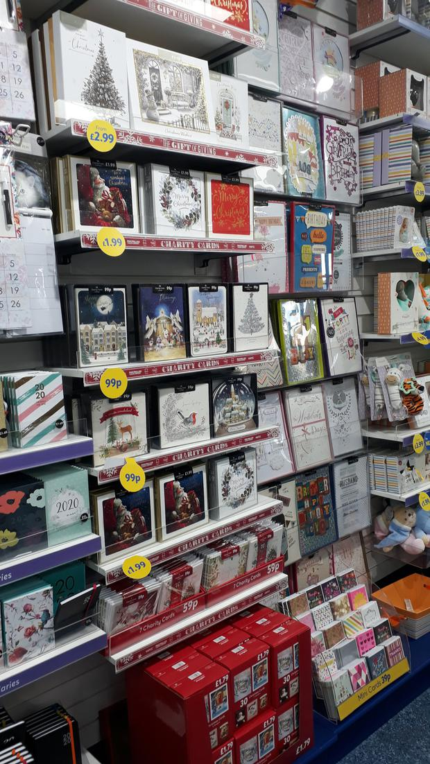 Christmas cards are on sale at The Card Factory
