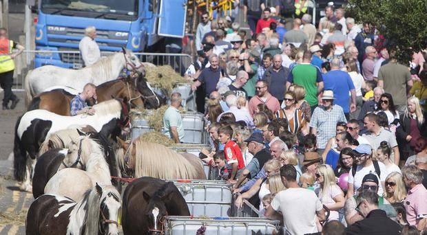 Thousands of people in Ballycastle during the Auld Lammas Fair