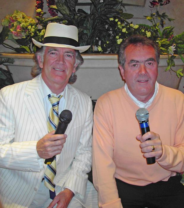 Sean Coyle with his late co-host and friend Gerry Anderson