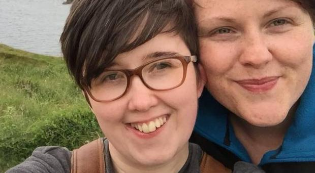 Murdered journalist Lyra McKee and her partner Sara Canning