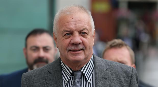 Victims campaigner Raymond McCord outside Belfast High Court (Brian Lawless/P)A