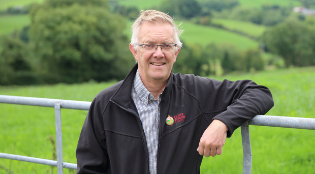 Ulster Farmers' Union president Ivor Ferguson on his farm