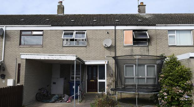 The scene of the fire at Princeton Drive, Lurgan