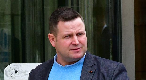 Paul Campbell leaving Belfast Crown Court