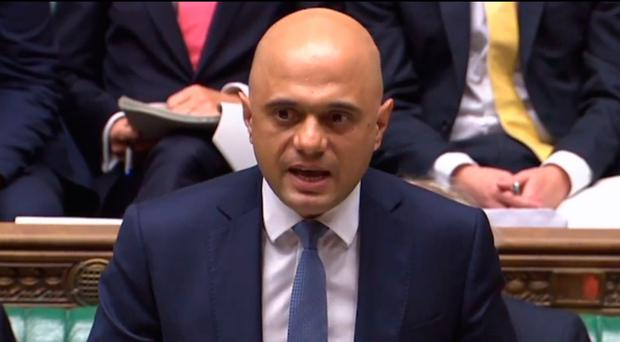 Chancellor of the Exchequer Sajid Javid delivers his Spending Review statement in the Commons yesterday