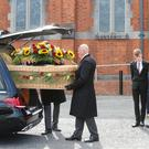 Relatives carry the coffin of Ciaran McKeown