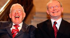Former First and Deputy First Ministers Ian Paisley and Martin McGuinness