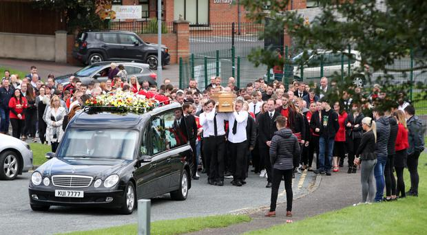 The funeral of Christopher Casement in Downpatrick