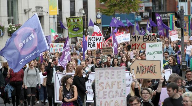 The Rally for Choice parade in Belfast