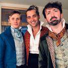 Raymond Walsh (right) with some of his fellow actors in Les Miserables
