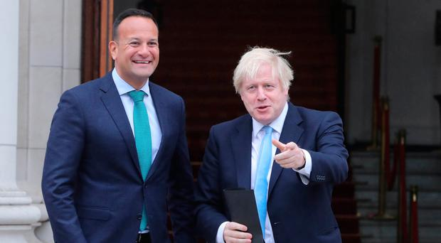Boris Johnson and Leo Varadkar give a joint press conference in Dublin