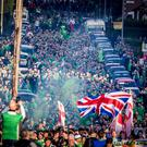 Northern Ireland fans arrive at Windsor Park ahead of game with Germany