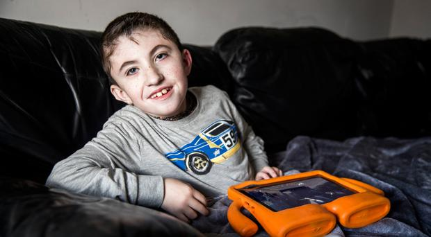 Jack McCrystal has a neuro-muscular disorder which means he is fed through a tube and needs to use a wheelchair
