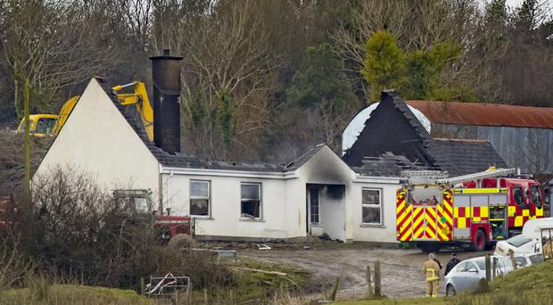 The scene of the fire in Derrylin