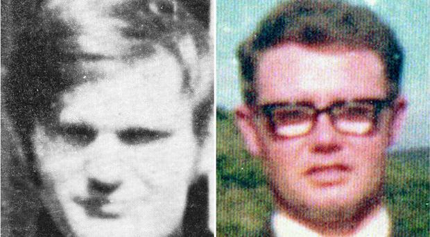 James Wray (left) and William McKinney who died on Bloody Sunday (Bloody Sunday Trust/PA)