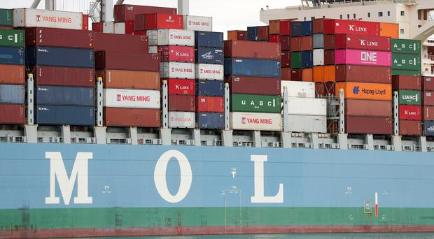 Foyle Port engages in worldwide trade in commodities including oil, animal feed and fertiliser (Andrew Matthews/PA)