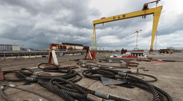 Supporters of the troubled Harland and Wolff shipyard in Belfast have welcomed news that a consortium the yard is involved in has been named the preferred bidder for a billion pound Royal Navy contract (Liam McBurney/PA)