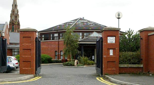 Clifton Nursing Home in north Belfast, which is owned by Runwood Homes
