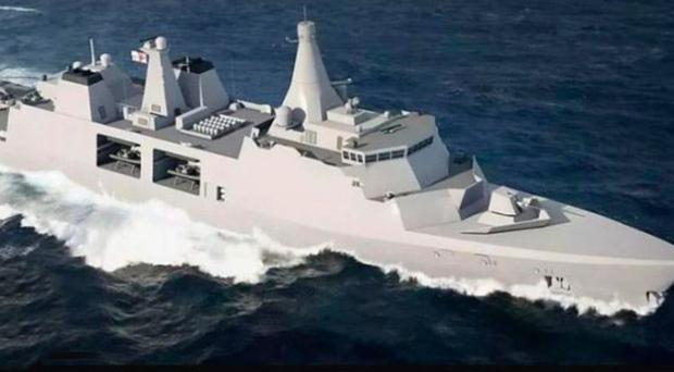 An image of a Type 31e frigate. The Royal Navy wants five built as part of the £1.25bn contract