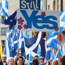 People marching for Scottish independence (Robert Perry/PA)