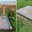 The Facebook post by Dolores McGuigan show husband Kevin McGuigan's grave before and after the attack
