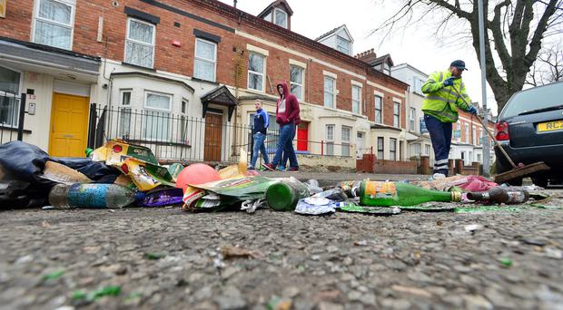 This year the trouble began on Sunday afternoon when students began drinking, and what was meant to be a party atmosphere quickly descended into intolerable behaviour