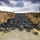 Landscape under threat: tyres dumped near the border
