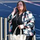 Christine Connor outside Belfast Crown Court yesterday for the opening of her trial