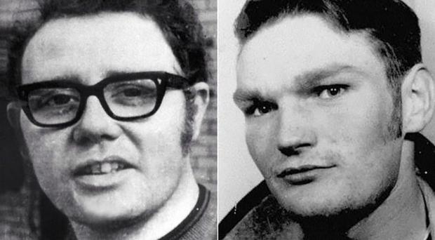 Soldier F is charged with the murder of William McKinney (left) and James Wray on Bloody Sunday