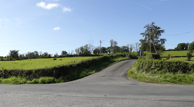 Crossroads at Drumcoughill, Cornafean, Co Cavan where Kevin Lunney was found