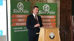 John Finucane has been selected to run as the Sinn Fein candidate in North Belfast at the next general election (Rebecca Black/PA)
