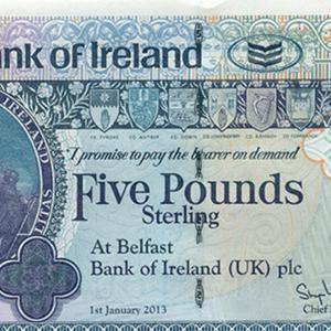 An example of a Northern Ireland paper banknote which will go out of circulation next week (ACBI/PA)