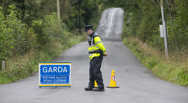 Police at scene where horse-box believed to have been used to hold abducted Kevin Lunney was discovered