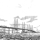 A sketch by architect Alan Dunlop of the bridge proposed by Johnson