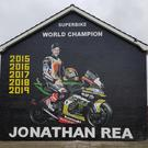 The Jonathan Rea mural at West Winds estate in Newtownards