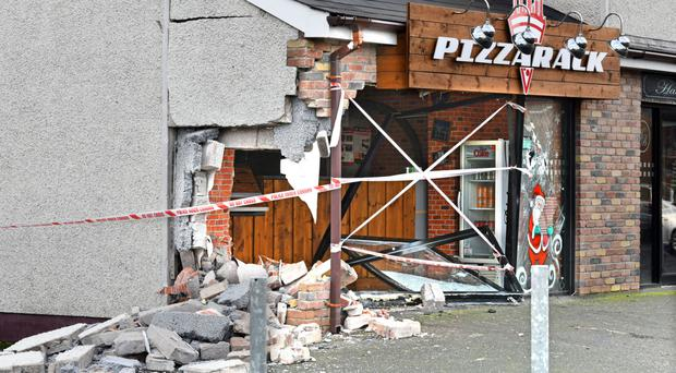 The restaurant in Coalisland after the incident last year