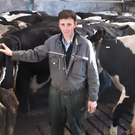 Dairy farmer Mervyn Gordon is concerned about the cost of producing milk