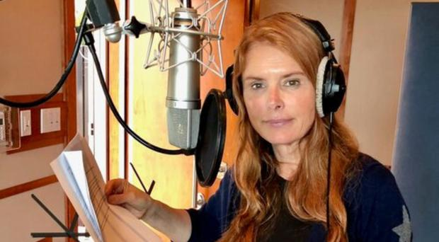 Roma Downey records her voice-over