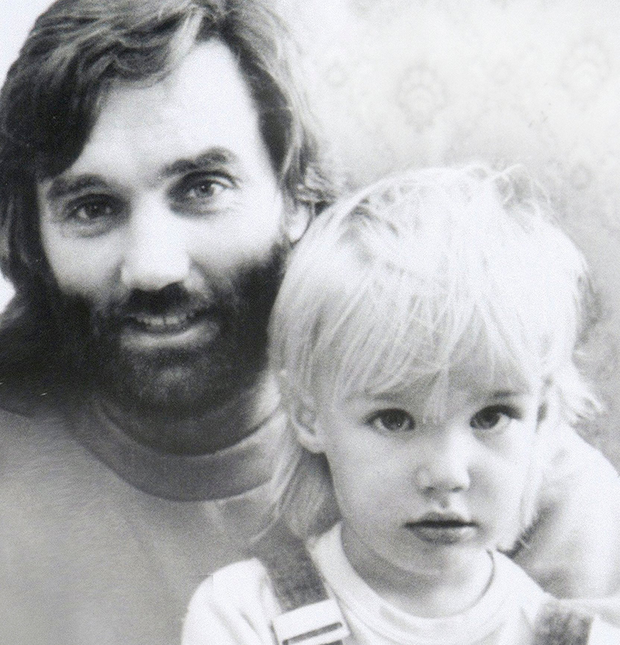 George Best with Calum as a child