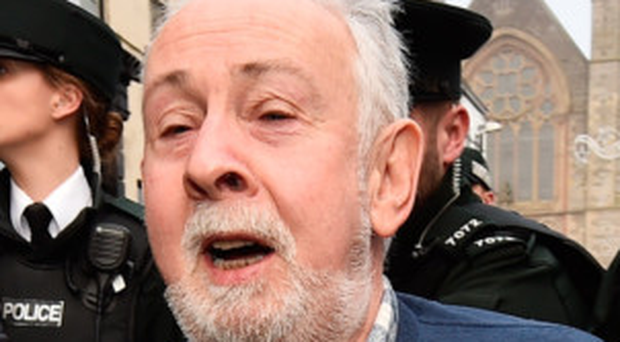 Murder suspect John Downey arrives at Omagh Magistrates Court on Saturday
