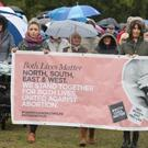 A Both Lives Matter march in Falls Park in west Belfast yesterday