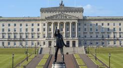 Aerial view of the Parliament Buildings at Stormont in Belfast.