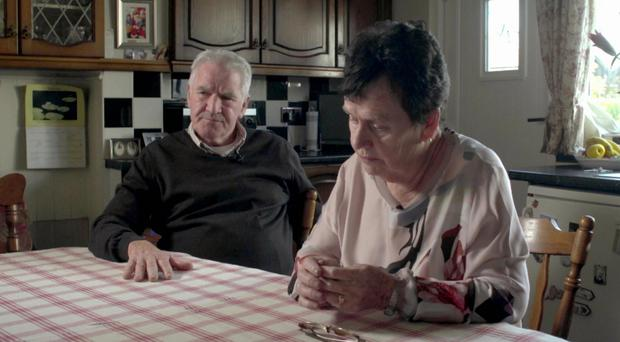 Eamon and Shelia Cairns, the parents of murder victims Gerard and Rory
