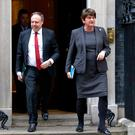 Nigel Dodds and Arlene Foster have attended a series of meeting in London over recent days