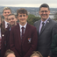 Mr Vukalic (back row, centre) meets pupils and staff from Foyle College, St Patrick's and St Brigid's, Claudy, and St Cecilia's College