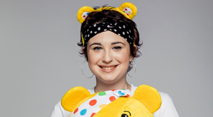 Adelle Keown from Newtownabbey, with Pudsey Bear