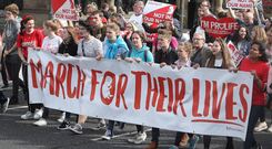 A rally against abortion law reform took place earlier this year