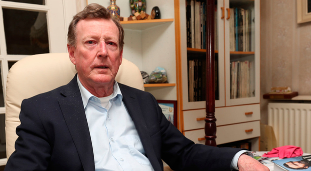 Former UUP leader Lord Trimble at his home in Lisburn earlier this year