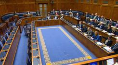 The Stormont Assembly in Belfast sat for the first time in two-and-a-half years (NI Assembly TV/PA)