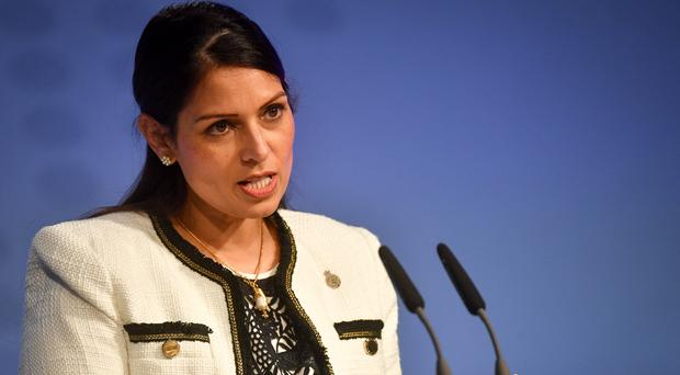 Home Secretary Priti Patel did not rule out the involvement of Border Force officers (Jacob King/PA)